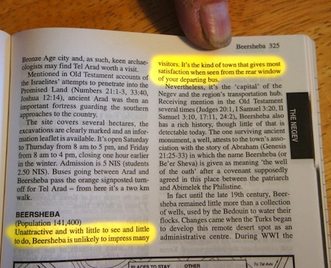 """Beer Sheva in the the old LP: """"unlikely to impress""""?"""