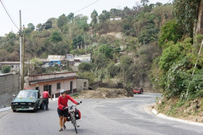 Tough uphill (one out of many, in Guatemala)