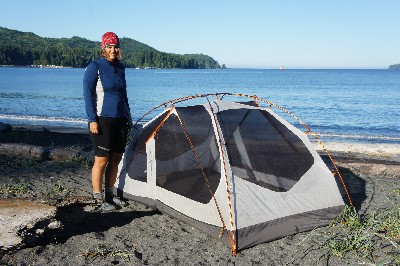 Beautiful and free beach camping near Port Renfrew