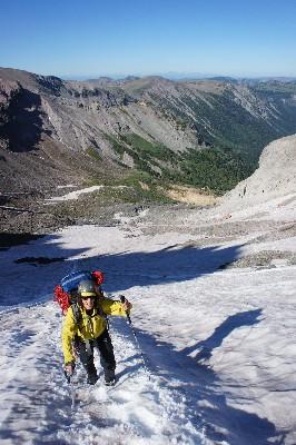 Brent, hiking up the Inter Glacier