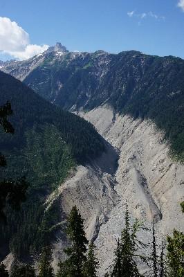 The Capricorn Creek Mudslide left a deep scar