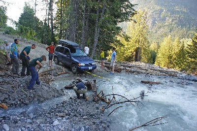 The road was washed out, the situation looked hopeless