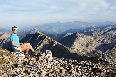 On the summit of Gott