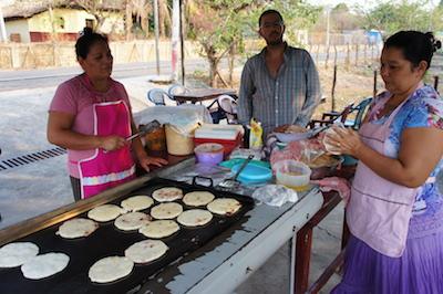 Pupusas in El Salvador