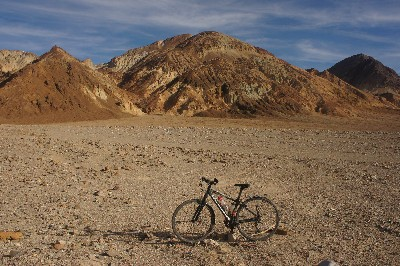 Lone bike in Death Valley