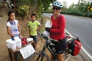 """Local vendors on """"Ruta de la Floures"""""""