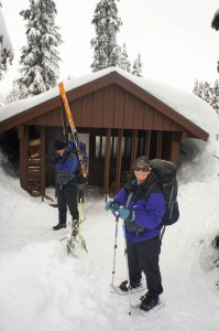 Jan and Warrick at the Red Heather Shelter