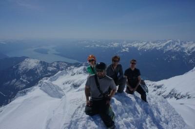 On the summit of Mt. Breakenridge