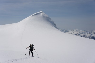 Marcin heading towards a small summit we tagged