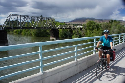 Crossing the Wenatchee River, almost back