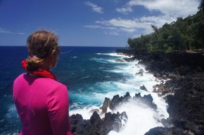 The dramatic rocky coastline