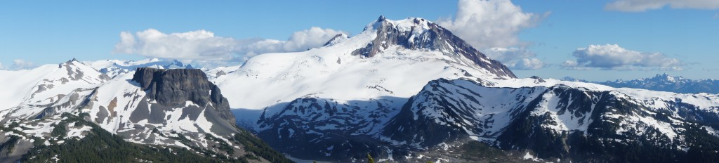 View from Clinker Peak: Garibaldi Mountain and Table Mountain