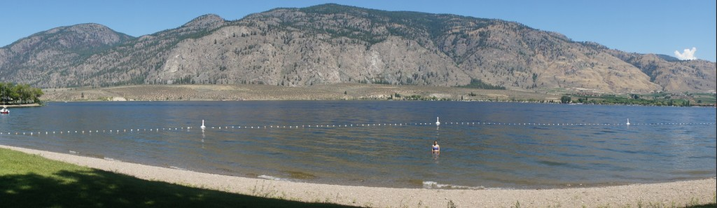 Swimming at Osoyoos Lake