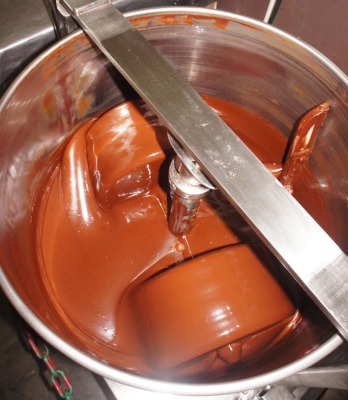 Conching, a critical step to get high quality chocolate