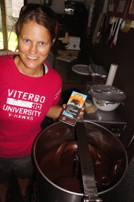 Small scale chocolate factory in Belize