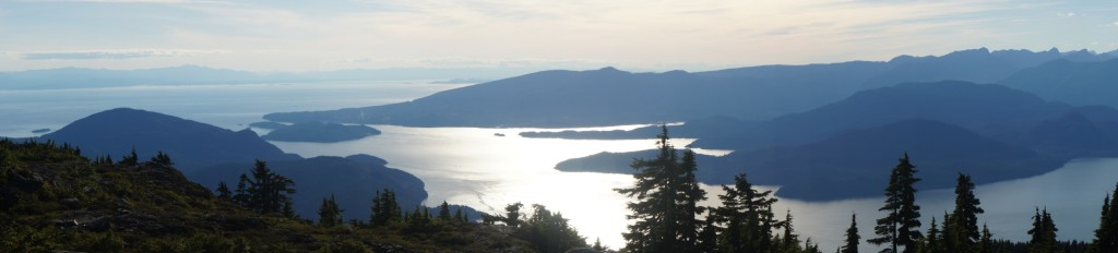Views of Howe Sound, from the summit of Mt. Strachan