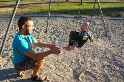 Loving the swings