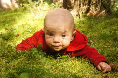 Tummy time in nature