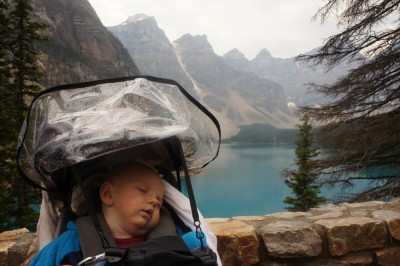 Neil missing out the views of Morraine Lake