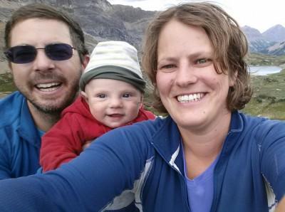 Family selfie at Pulsatia Pass