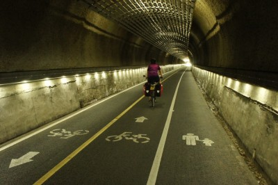 Cyclist's tunnel