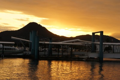 Sunset over Sasebo