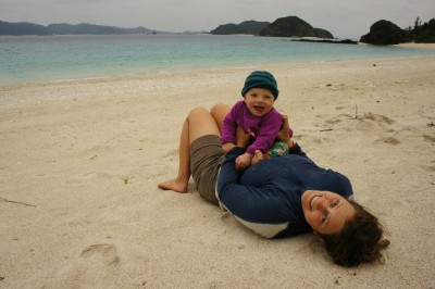Fun at the beach on Zamami Island