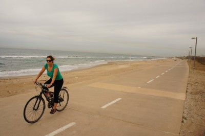 We cycled up and down the Yarkon Park and along the beach to Herzlia