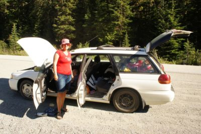 Broken car on the Duffy Lake Rd.