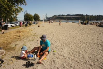 More beach time, Ambleside Park