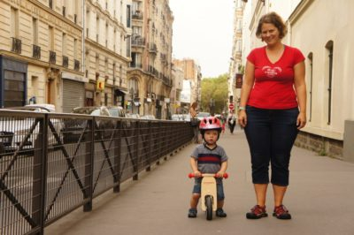 Cycling in Paris, or at least some of us did