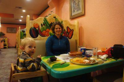 Dinner at Maya's restaurant